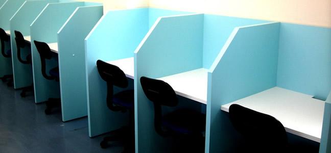 自習室用ブース 設置例